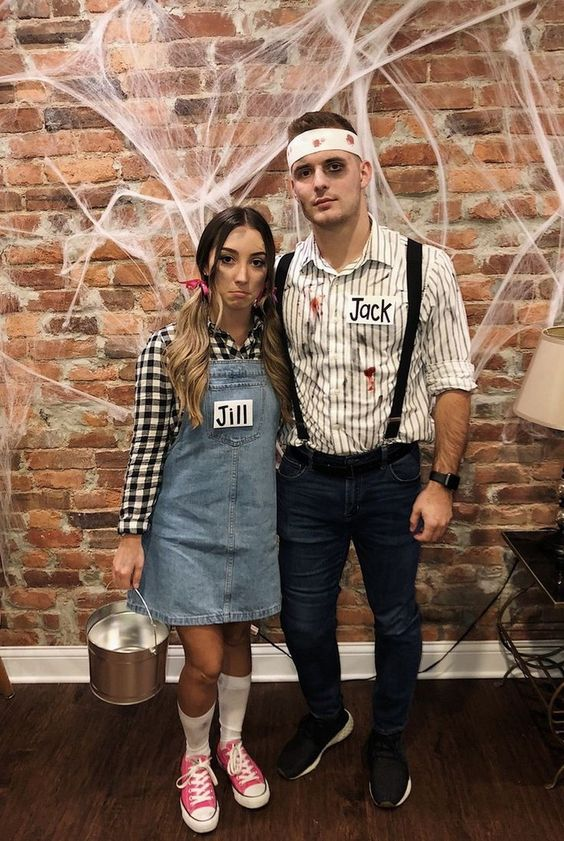 Jack and Jill couples Halloween costumes