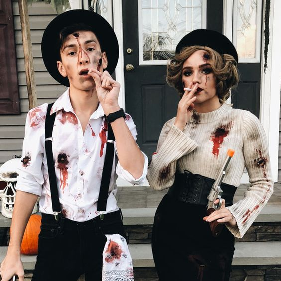 Scary Couples Halloween Costumes - Bonnie And Clyde