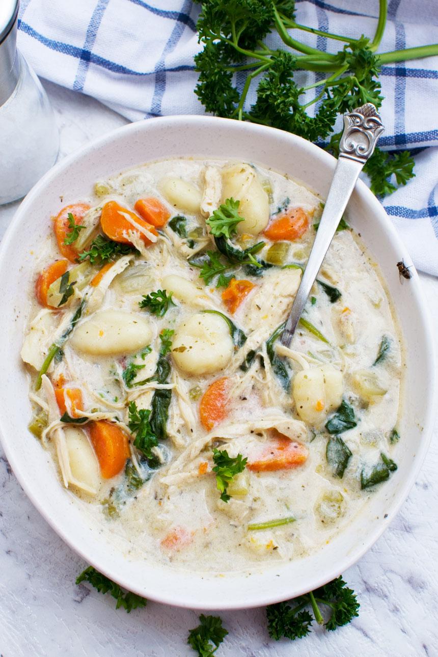 Easy Chicken Gnocchi Soup