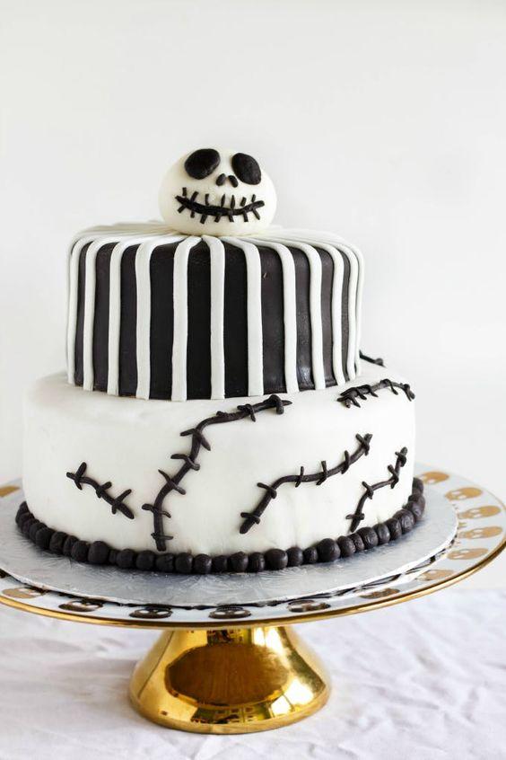 Jack Skellington Halloween Cake