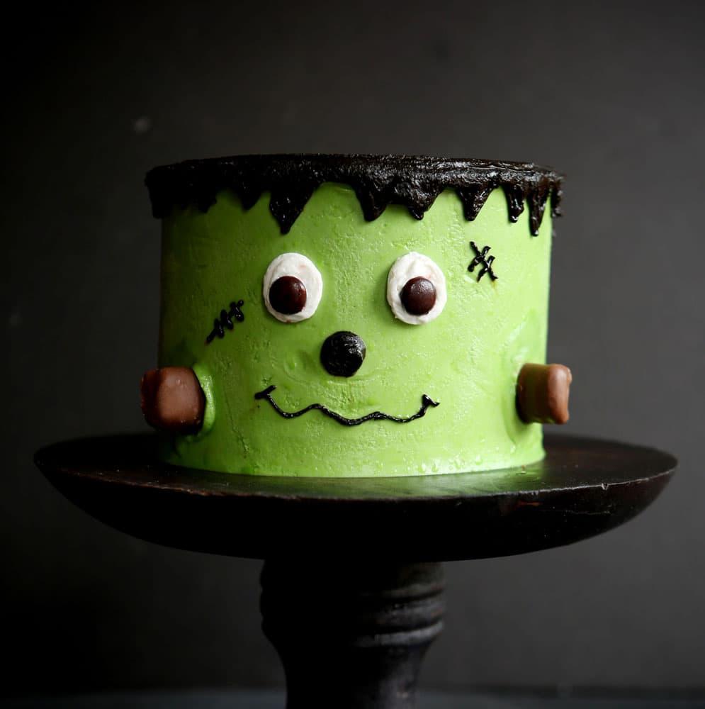 Frankenstein Cake For Halloween