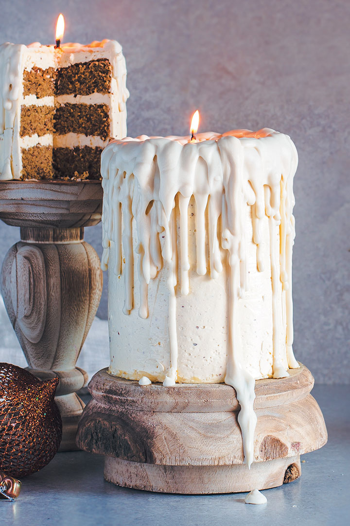 Candle Cake With Eggnog