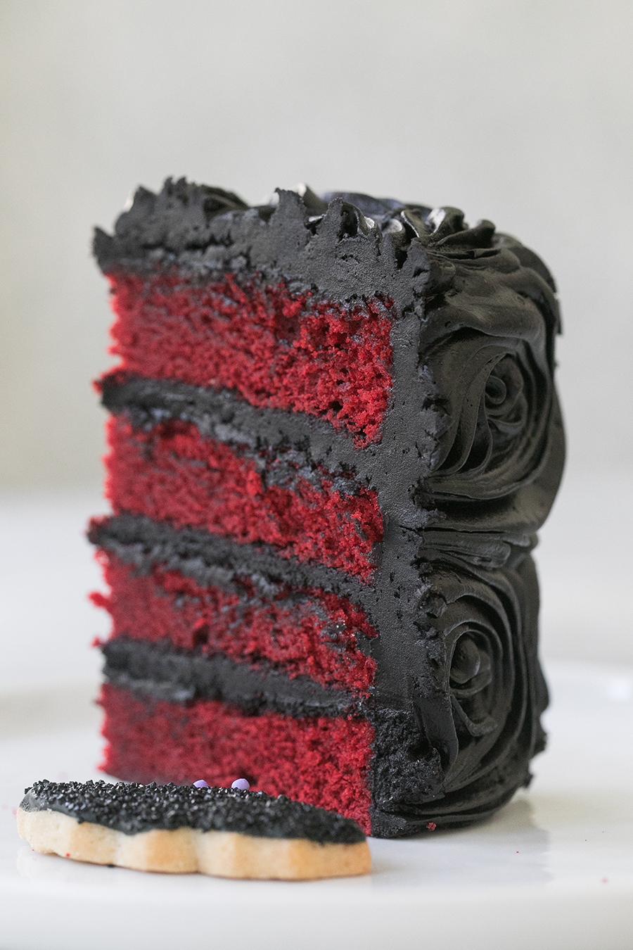 Black Red Velvet Cake