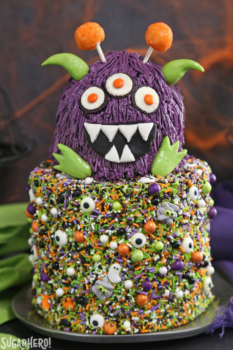 Purple Monster Cake