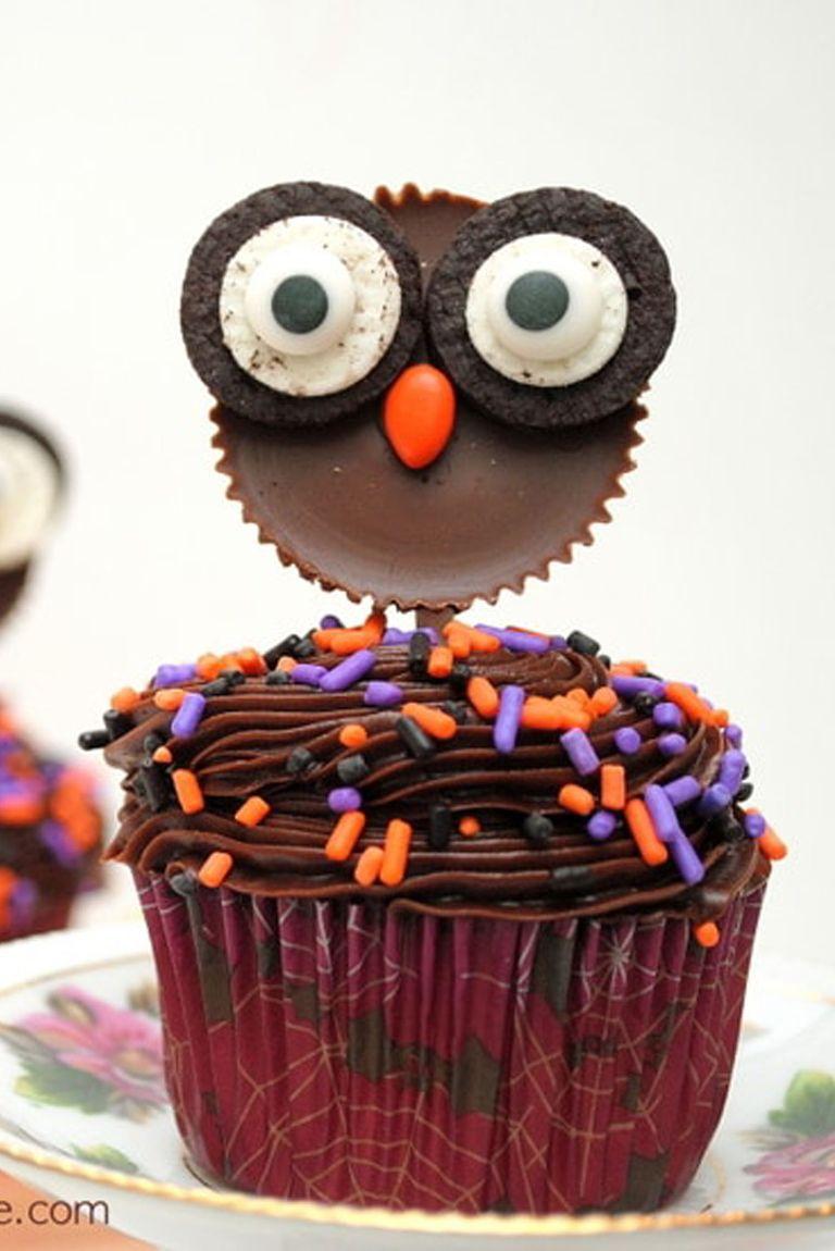 Reese's Owl Cupcake
