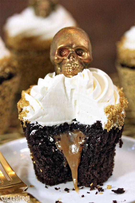 Caramel-Stuffed Chocolate Cupcakes