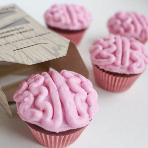 Zombie Brain Halloween Cupcake Ideas
