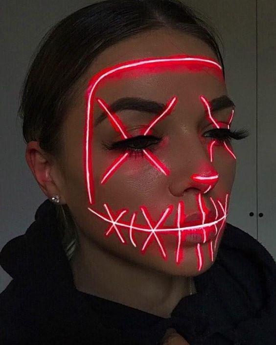 Glow in the dark Halloween makeup ideas
