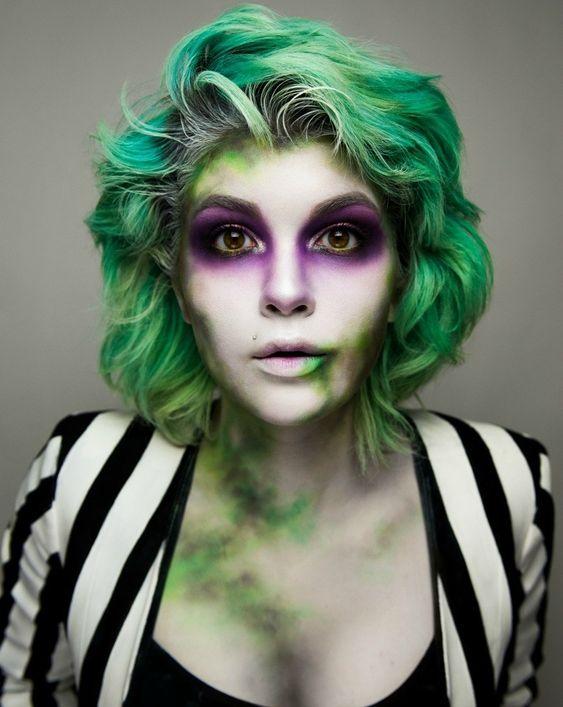 Beetlejuice makeup looks