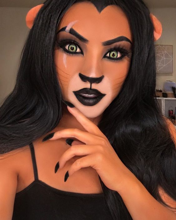 Lion king makeup looks by Promise Tamang