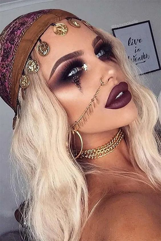 Fortune teller makeup, cute Halloween makeup looks