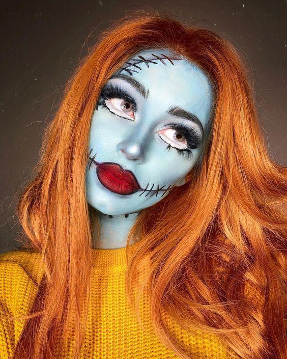 Nightmare before Christmas makeup looks, cute Halloween makeup ideas