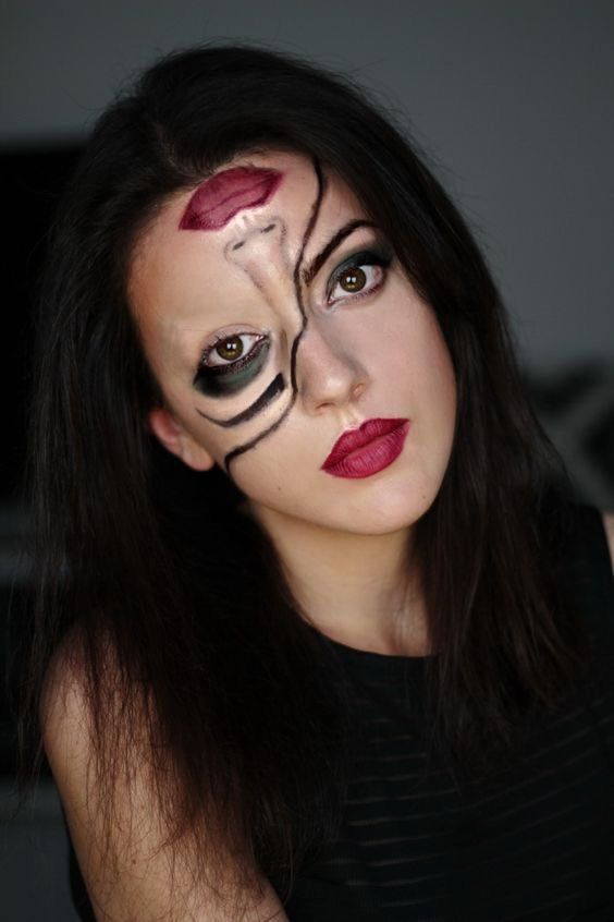Cool Halloween makeup looks - two faced