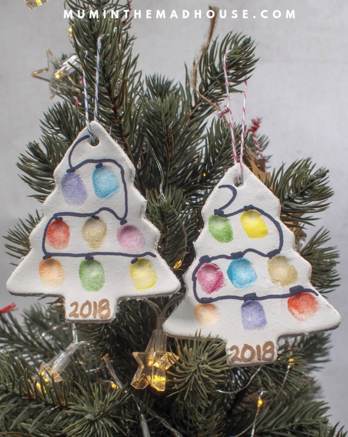 Fingerprint Christmas Tree Ornaments