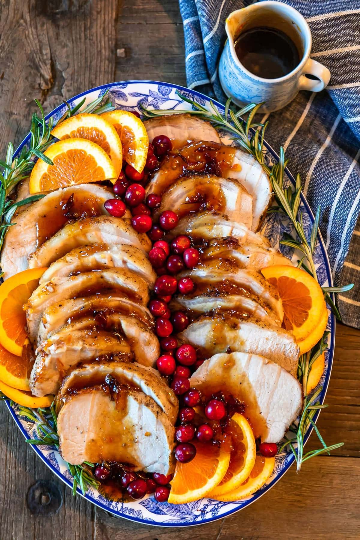 Easy Christmas dinner ideas: Orange Cranberry Pork Loin Roast
