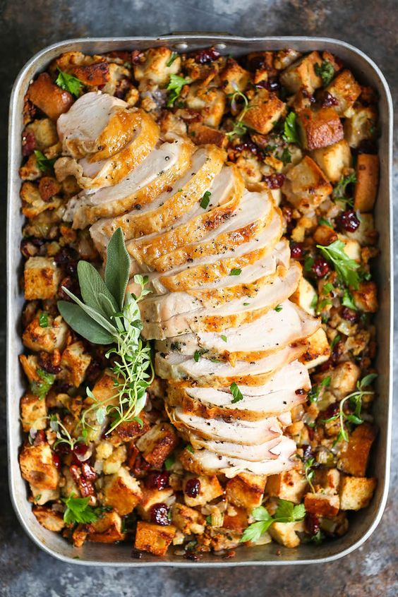 Easy Christmas main dishes: Sheet Pan Herb Roasted Turkey