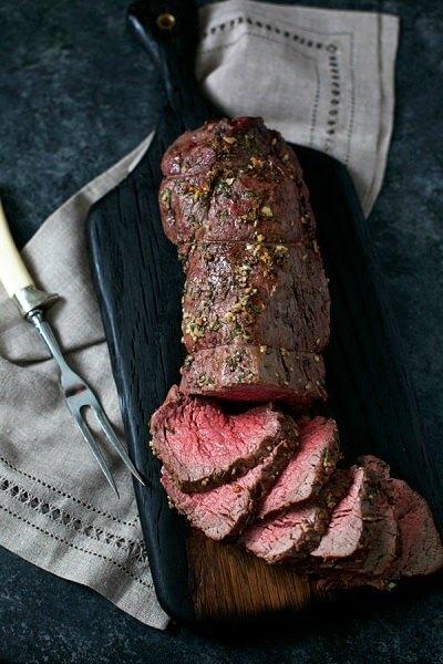 Best Christmas mains: Garlic Rosemary Beef Tenderloin Roast