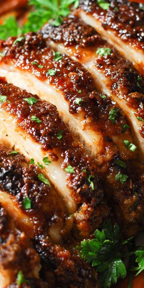 Easy Christmas dinner ideas: Brown Sugar Dijon Glazed Pork Loin