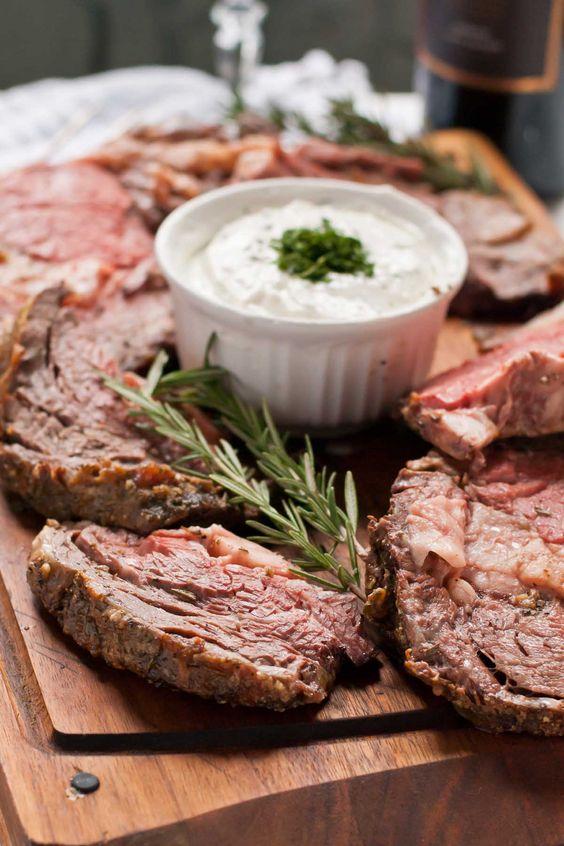 Best Christmas main dishes: Garlic Rosemary Prime Rib Roast with Horseradish Cream