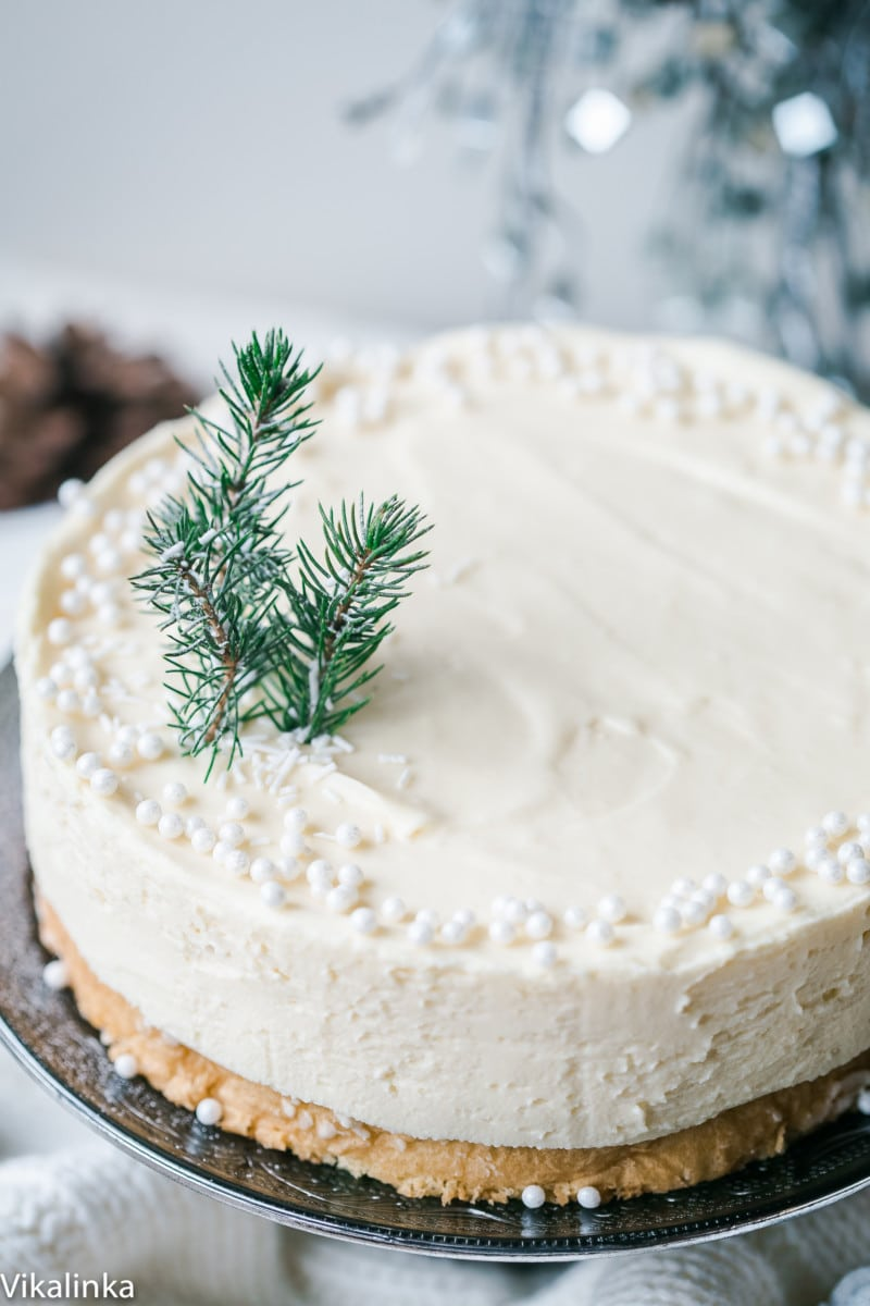 White Christmas Truffle Cake Idea