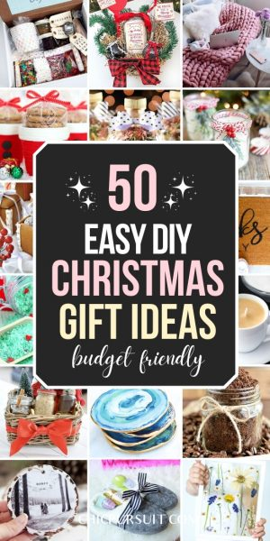 50 Genius DIY Christmas Gifts For Family & Friends They Will Love