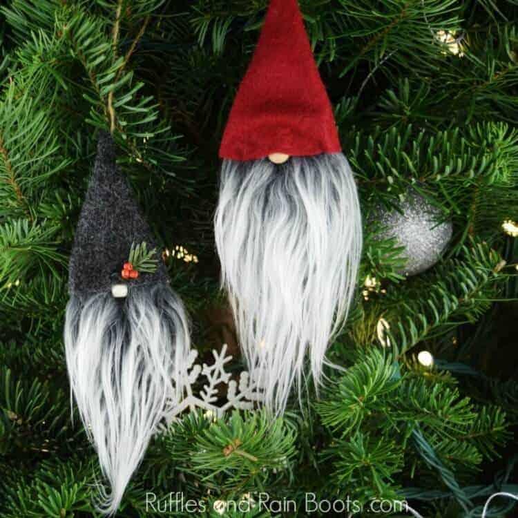 Easy DIY Christmas Gnome Ornaments