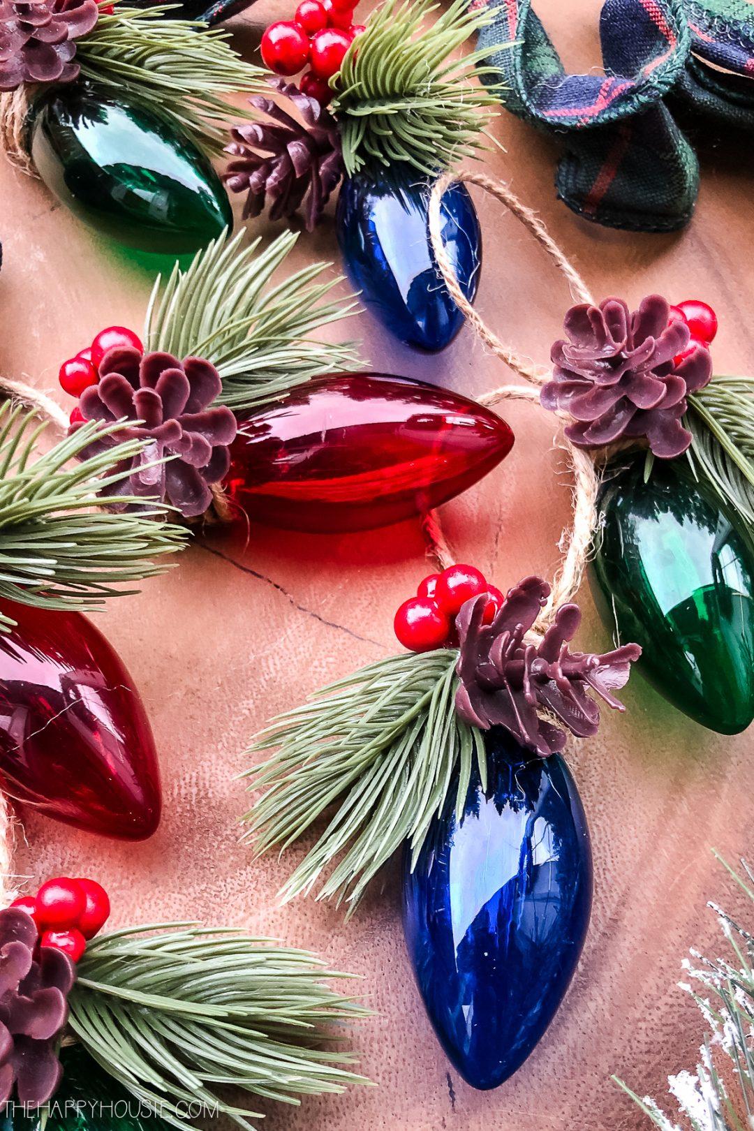 DIY Christmas Light Tree Ornament
