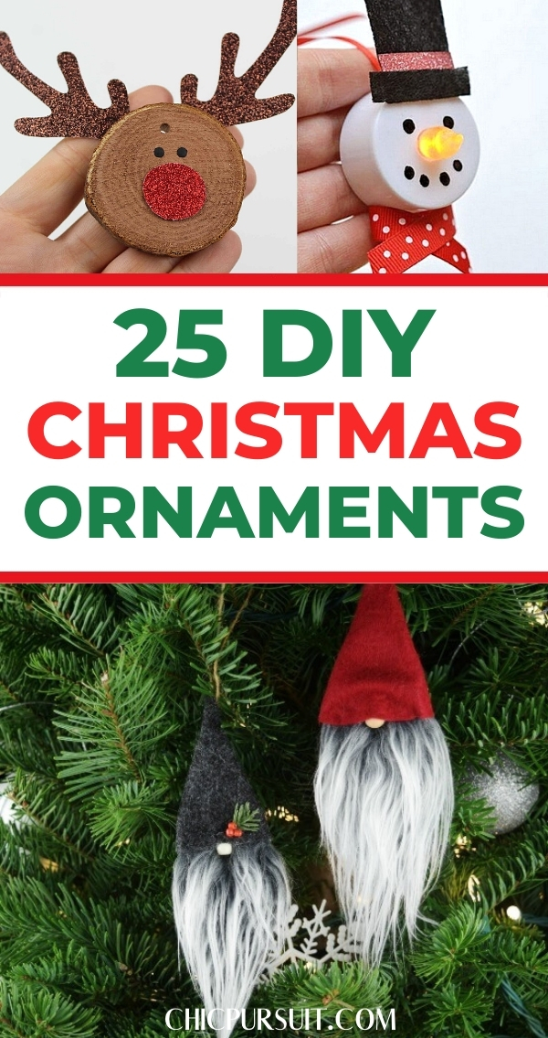 The best easy DIY Christmas ornaments
