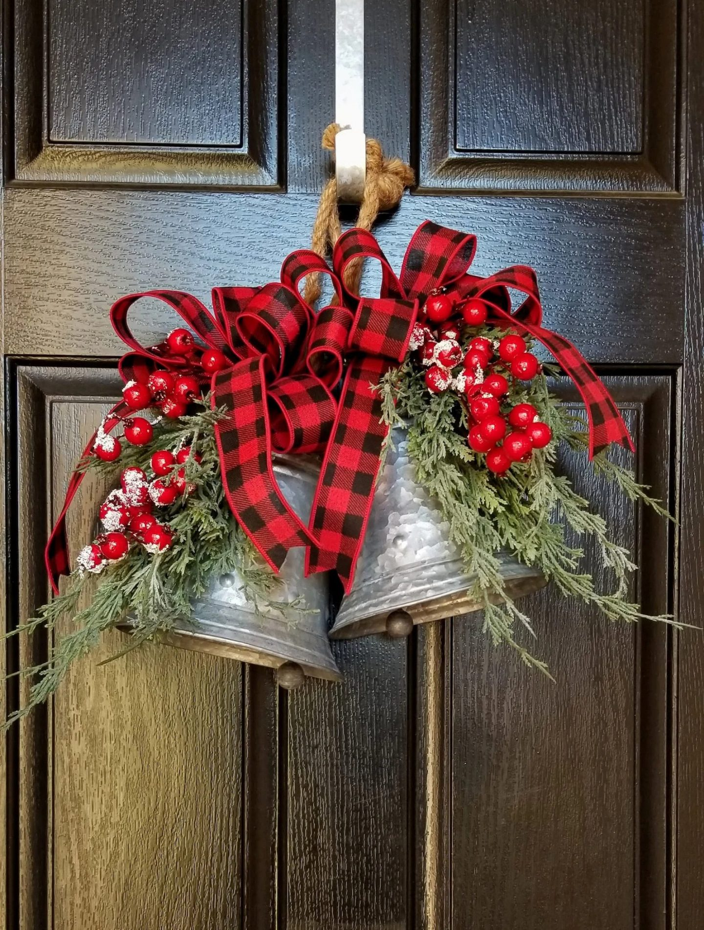 Farmhouse Christmas bells for front door