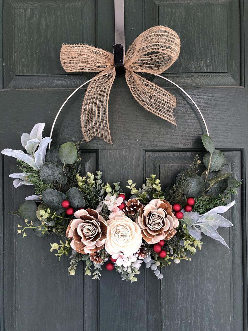 Modern Minimalist Wreath For Front Door
