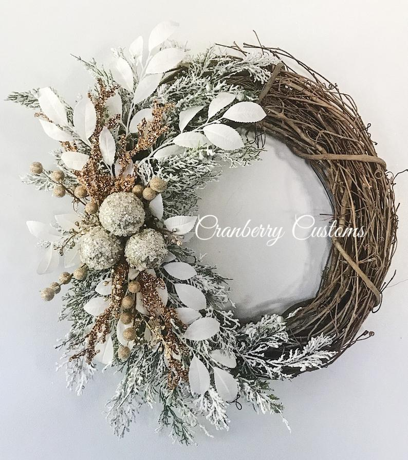 Elegant White Winter Wreath