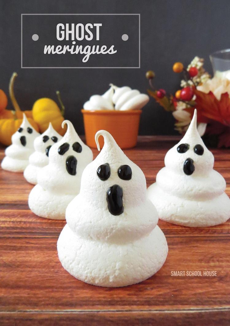 Fun Halloween Party Food Ideas: Ghost Meringues