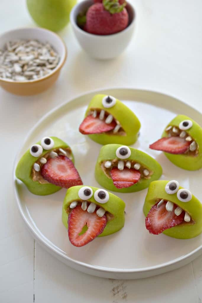 Silly Apple Bites For Halloween