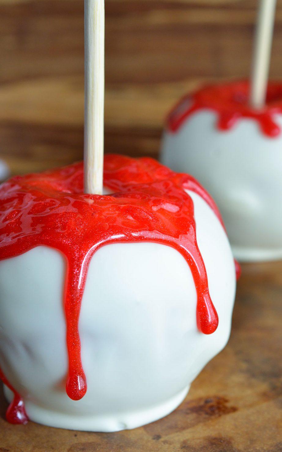 Bloody White Halloween Apples