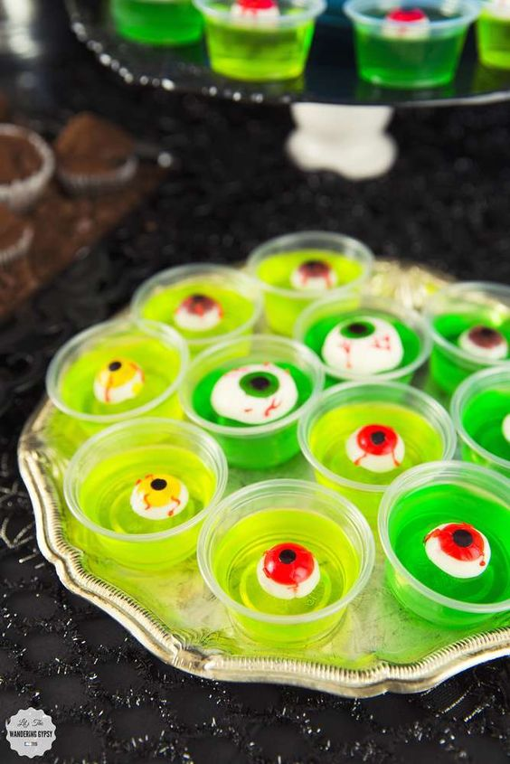 Fun Halloween Food Ideas For Kids: Zombie Jello Shots