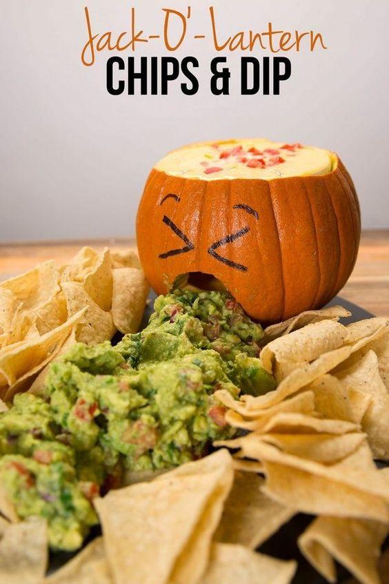 Jack O'Lantern Chips & Dip