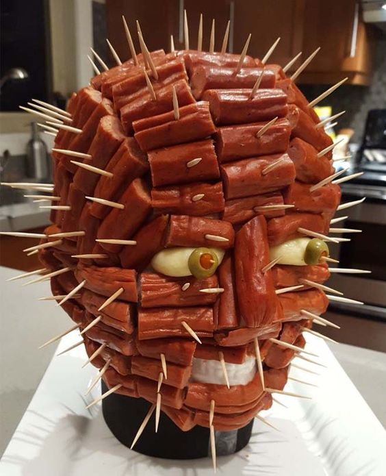 Scary Halloween Food Ideas For Kids: Pepperoni Pinhead
