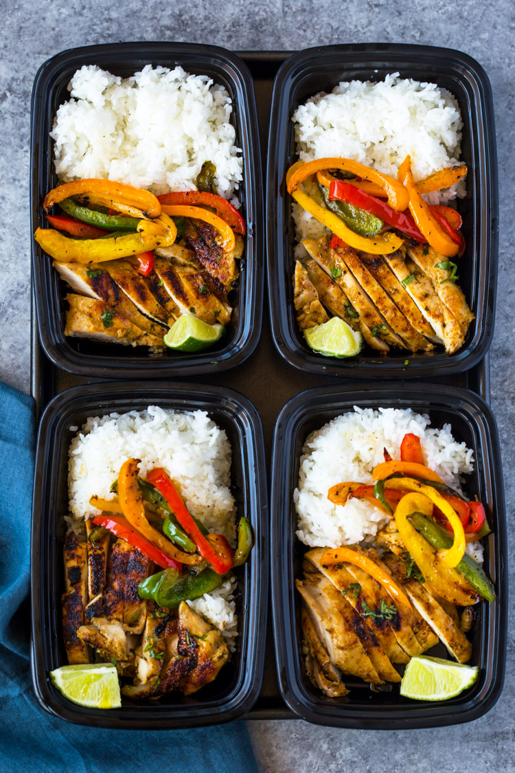 Chili Lime Chicken and Rice Meal Prepping