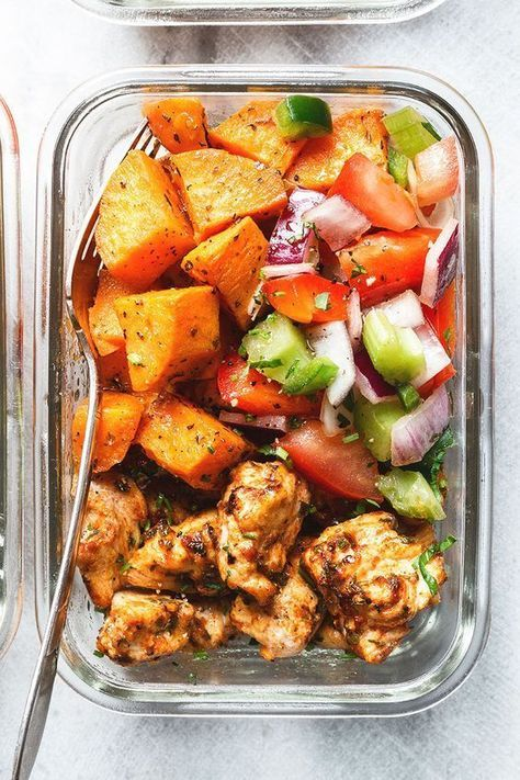 Roasted Chicken and Sweet Potato Meal Prep