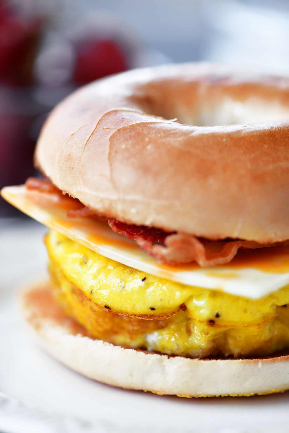 Bacon Egg Cheese Bagel Sandwiches