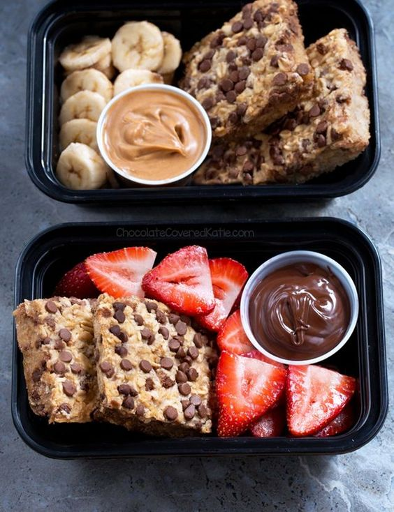 Breakfast Meal Prep Oatmeal Squares To-Go