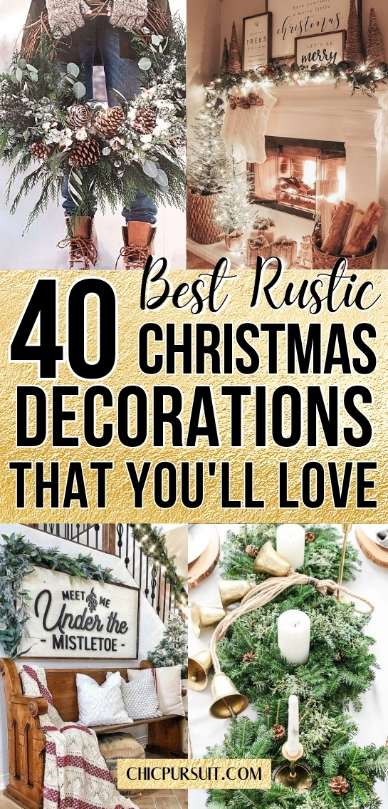 Best rustic Christmas decorations and farmhouse Christmas decor