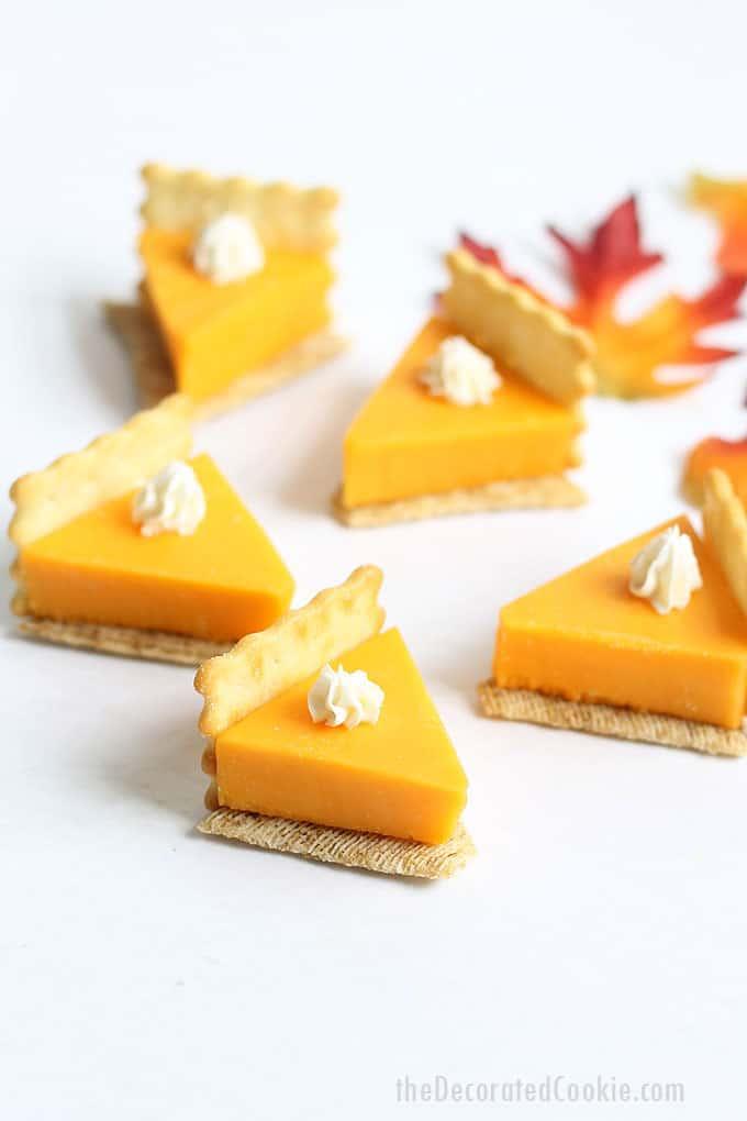 Easy Pumpkin Pie Cheese & Crackers