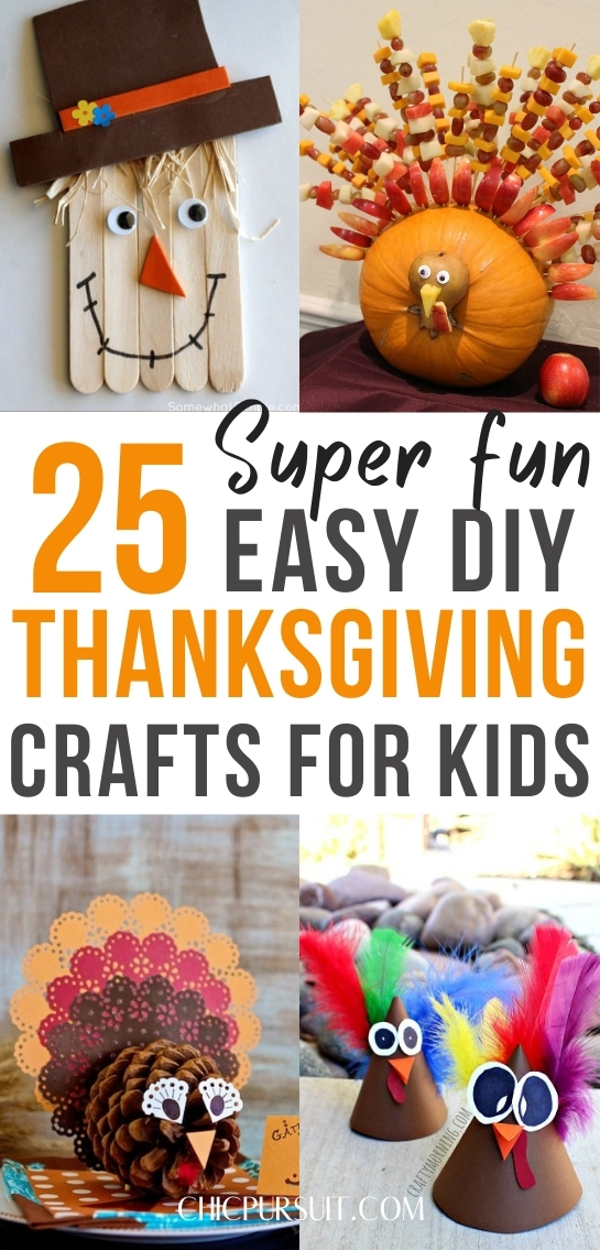 The best easy DIY Thanksgiving crafts for kids