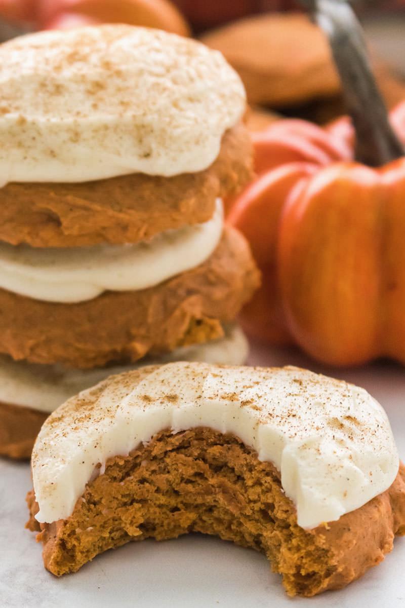 Pumpkin Spice Cookies with Cinnamon Cream Cheese