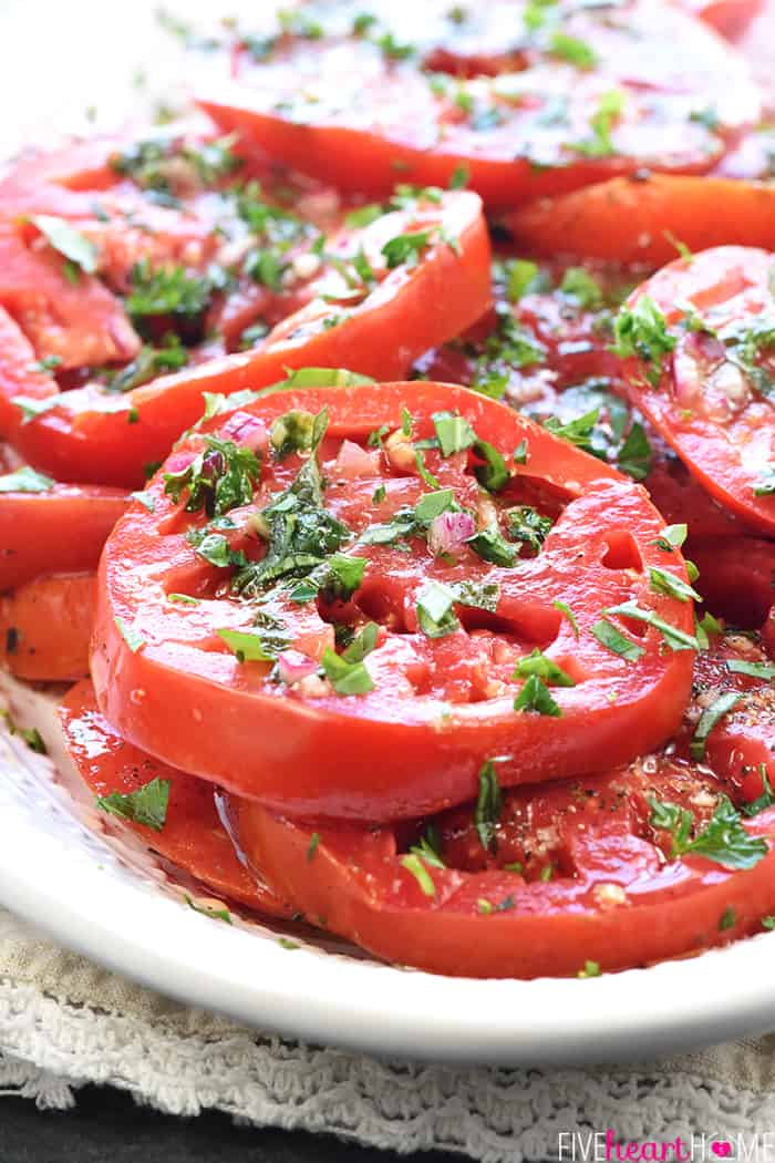 The Best Marinated Tomatoes