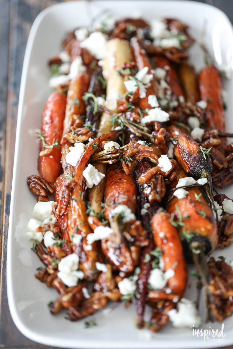 Roasted Carrots With Goat's Cheese & Pecans