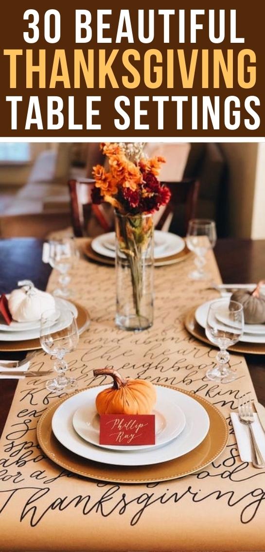 30+ Simple & Elegant Thanksgiving Table Settings You'll Love