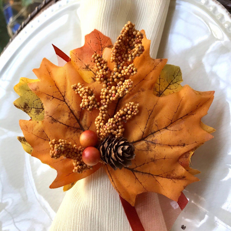 Fall Maple Leaf Napkin Rings