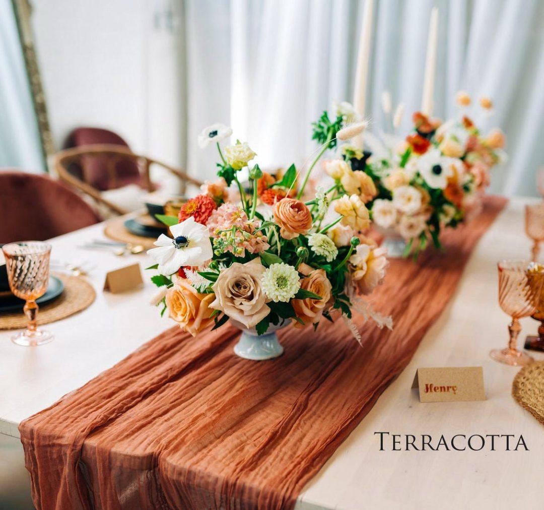 Terracotta Thanksgiving table runner